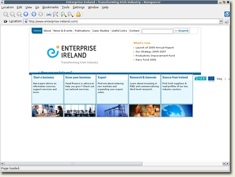 Enterprise Ireland Konquerer 3.5.4 on Debian