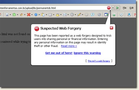 Firefox anti-phishing protection