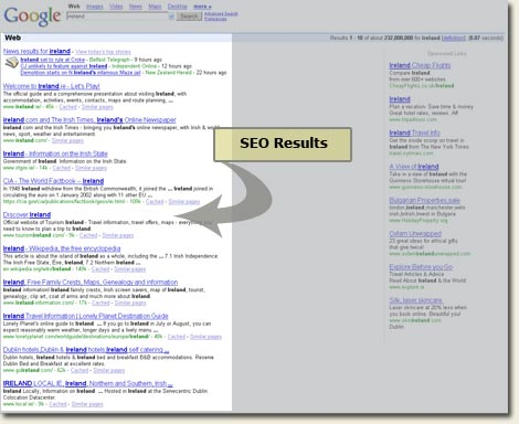 SEO results example