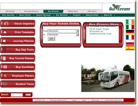 Bus Eireann Homepage