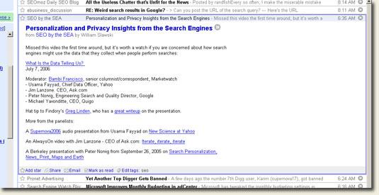 Google Reader open story