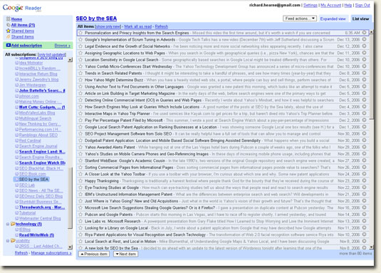 Really Simple Guide to RSS - Google Reader