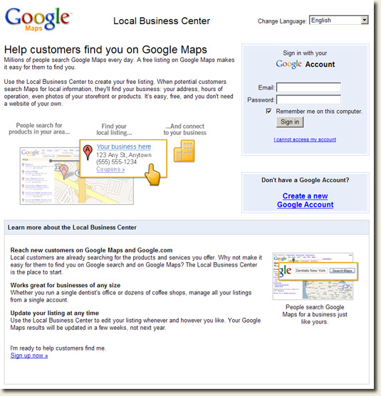 Google Local Business Center Ireland