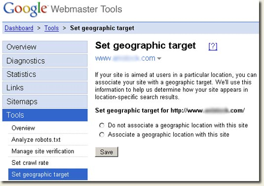 GWT Geotargeting Tool