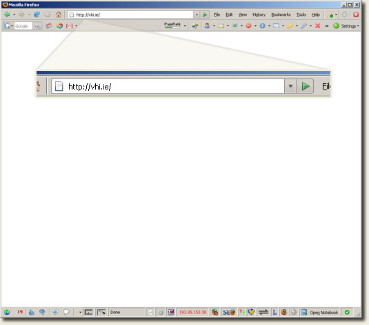 Image of vhi.ie homepage for non-www request
