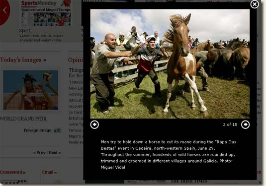 Picture of Irish Times Lightbox Function