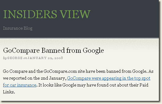 gocompare google ban