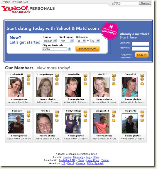 Yahoo personals online dating