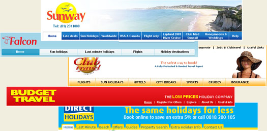 Irish Travel Agent Websites