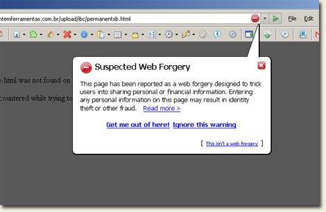Firefox anti-phishing protection