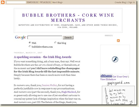 Bubble Brother's Blog