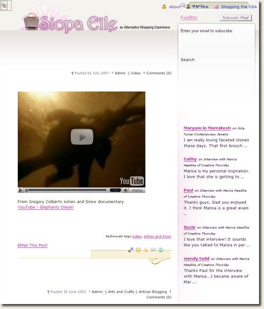 Siopa Eile shopping blog