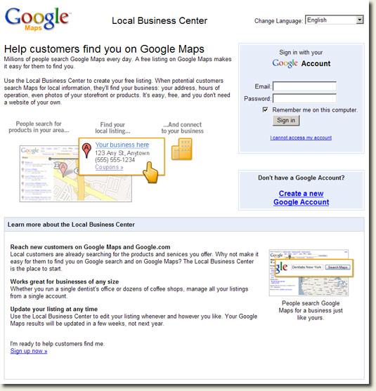 Google Local Business Center Ireland
