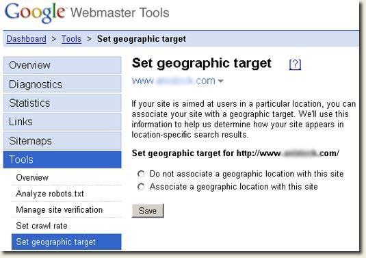 GWT Geotargeting Tool