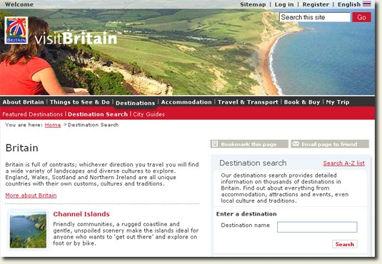 VisitBritain.com now offering information on Ireland?