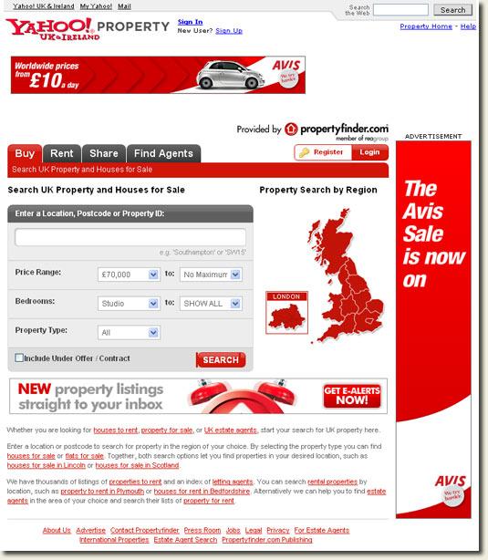 Yahoo! Ireland Property Section